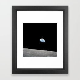 Apollo 8 - Iconic Earthrise Photograph Framed Art Print