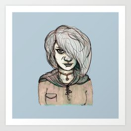 Angry Girl Art Print