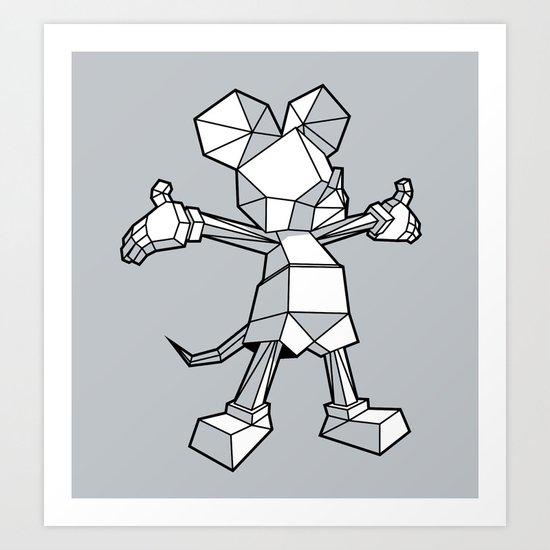 Origamey Mouse Art Print