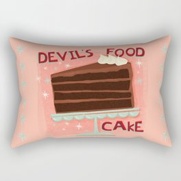 Devil's Food Cake An All American Classic Dessert Rectangular Pillow