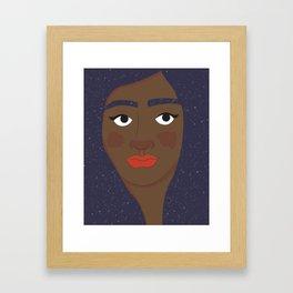 Space Geisha – Black Complexion Framed Art Print
