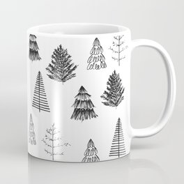 Trees Pattern Black and White Coffee Mug