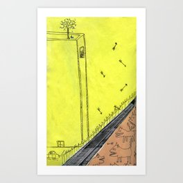 The Other Side of the Tracks Art Print