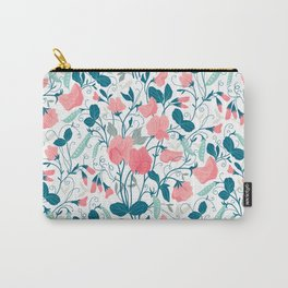 Sweet pea. Floral pattern. Carry-All Pouch