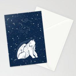 Polar Bear and Constellation Arctic Night Sky Stars Stationery Cards