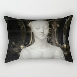 White Lady Marble Sculture Statue Rectangular Pillow
