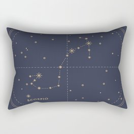 Vintage Scorpio Rectangular Pillow