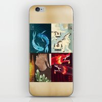 airbender iPhone & iPod Skins featuring Original Bending Masters Series by miss-meza