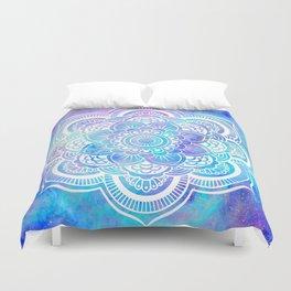 Mandala Pink Lavender Aqua Galaxy Space Duvet Cover