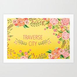 yellow tc flower Art Print