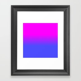Neon Blue and Hot Pink Ombré Shade Color Fade Framed Art Print