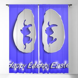 Easter egg with bunny silhouette Blackout Curtain
