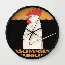 Vintage poster - Waschanstalt Zurich Wall Clock