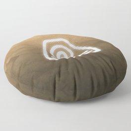 Avatar Earth Bending Element Symbol Floor Pillow