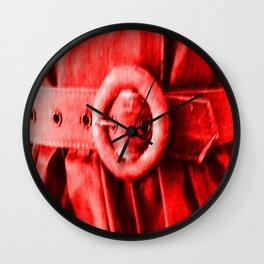 Red Vintage bElt Wall Clock