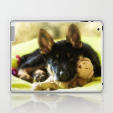 Shepherd puppy looks so tired Laptop & iPad Skin