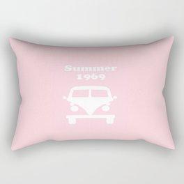 Summer 1969 -  pink Rectangular Pillow