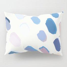 Blue Painted Dots Pillow Sham