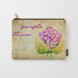 Purple Allium Bud Carry-All Pouch