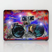 drums iPad Cases featuring Psychedelic Drums by JT Digital Art