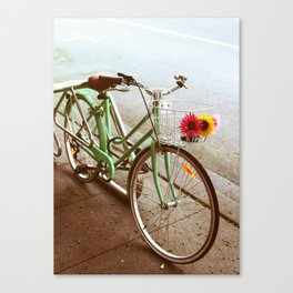 MINTY BIKE Canvas Print
