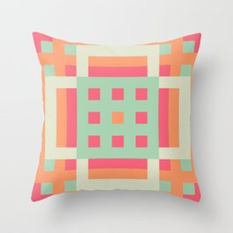Candy Pastel Throw Pillow