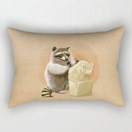 Raccoon in Pursuit of Perfection Rectangular Pillow