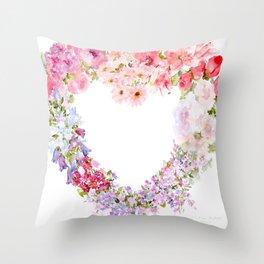 Heart Full of Love Throw Pillow