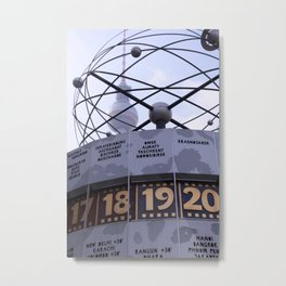 Weltzeituhr  Metal Print