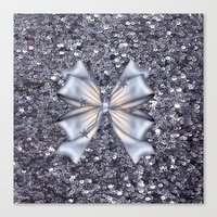 silver Canvas Prints featuring Silver by Elena Indolfi