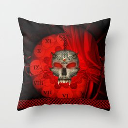 Awesome skull with celtic knot Throw Pillow