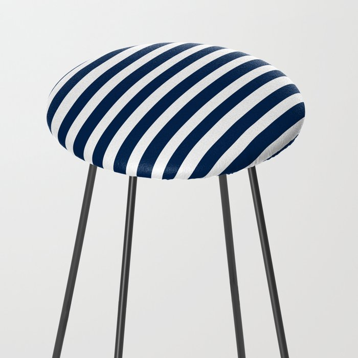 Navy-White ( Stripe Collection ) Counter Stool