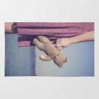 teddy bear Area & Throw Rugs featuring Teddy by Maria Heyens