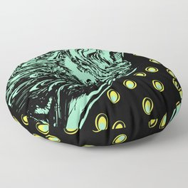 Abstract Peacock Floor Pillow