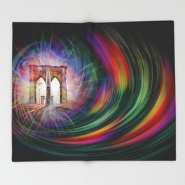 Our world is a magic - Time Tunnel 101 Throw Blanket
