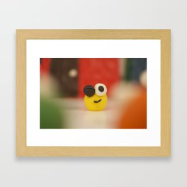 YELLOW CLAYMAN Framed Art Print