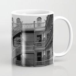 Bradbury Building, Los Angeles Romanesque Revival ornate wrought iron work and skylit atrium  Coffee Mug