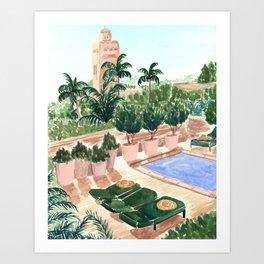 Moroccan Hotel Art Print