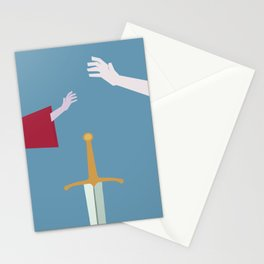 The Sword in the Stone - Movie Poster - Penguin Book version Stationery Cards