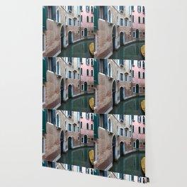 Venetian streets -canals .Carlo Galdoni Museum Wallpaper