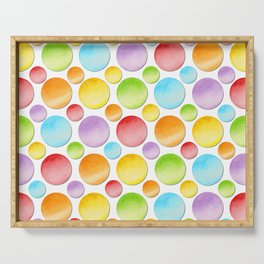 Rainbow Polka Dots Serving Tray