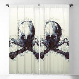Polygonal Skull Blackout Curtain