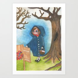 The little blue ridding hood Art Print