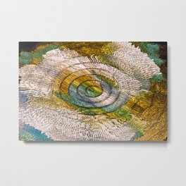 """UFO Crop Circles"" Print Metal Print"