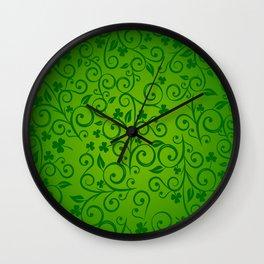 shamrock, ireland, irish gift, irish gifts women, luck of the irish, saint patricks day Wall Clock