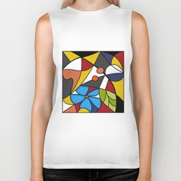 Abstraction. Curves and bends. Color mosaic . Biker Tank