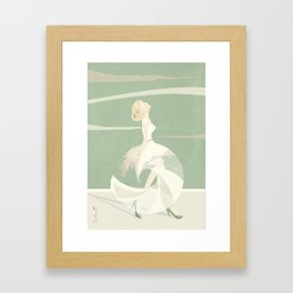 wedding photograph_her | something about Framed Art Print
