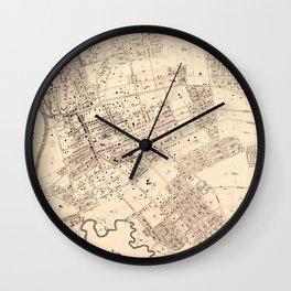 Vintage Map of Flushing NY (1894) Wall Clock