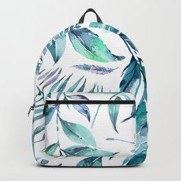 Teal manic botanic Backpack