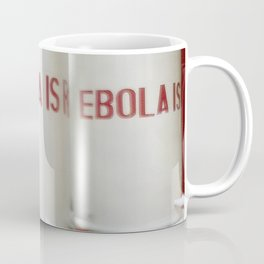 Chlorinated water containers captured West African Ebola outbreak Coffee Mug